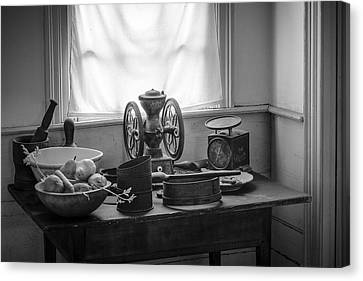 Mystic Setting Canvas Print - The Old Table By The Window - Wonderful Memories Of The Past - 19th Century Table And Window by Gary Heller