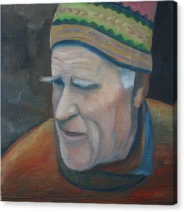 The Old Teacher Canvas Print by Stephen Degan
