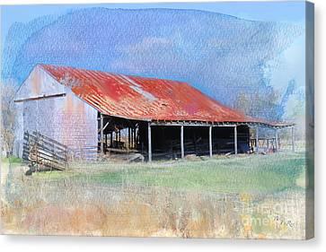 The Old Tin Barn Canvas Print