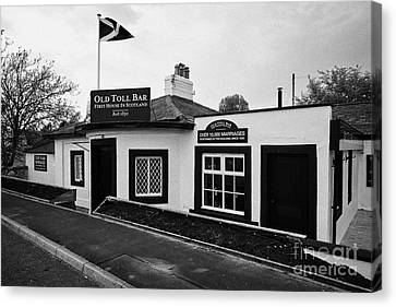 Toll House Canvas Print - The Old Toll Bar First And Last House In Scotland On The England Border by Joe Fox