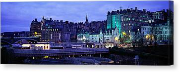 The Old Town Edinburgh Scotland Canvas Print by Panoramic Images