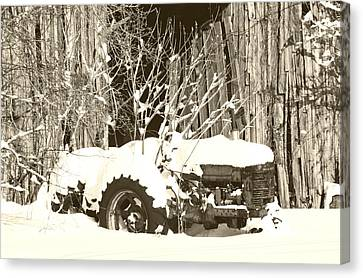 The Old Tractor Canvas Print by Heather Allen