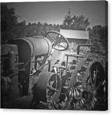 The Old Tractor Canvas Print by Michael Allen