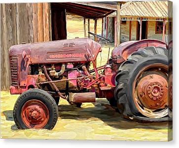 The Old Tractor Canvas Print by Michael Pickett