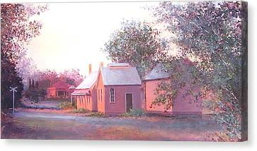 The Old Train Station Canvas Print by Jan Matson