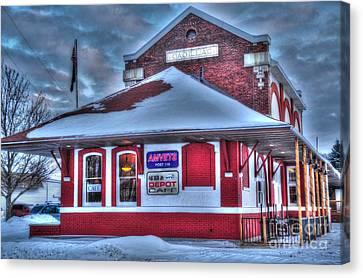 The Old Train Station Canvas Print by Terri Gostola