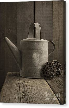 Galvanize Canvas Print - The Old Watering Can by Edward Fielding