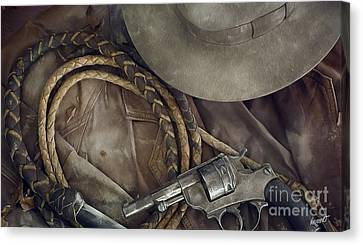 The Old West Painting Canvas Print by Jon Neidert