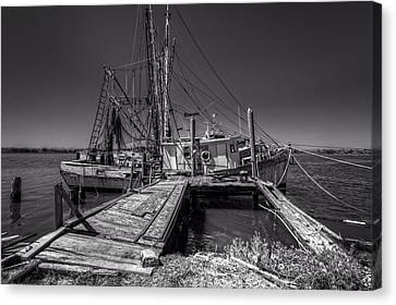 The Old Wharf In Brunswick Canvas Print by Debra and Dave Vanderlaan