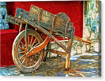 The Old Wheelbarrow Canvas Print by Michael Pickett