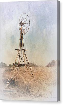 The Old Windmill Canvas Print by Elaine Teague