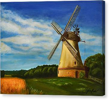 The Old Windmill Canvas Print by Gynt Art