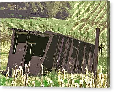 The Old Wine Shed Canvas Print by Charlette Miller