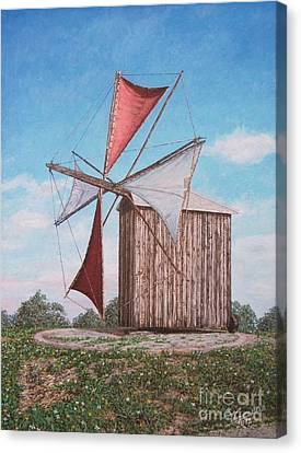 The Old Wood Windmill Canvas Print