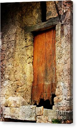 Canvas Print featuring the photograph The Old Wooden Door by Jacqi Elmslie