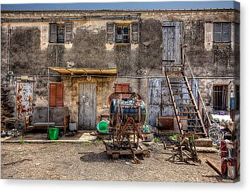 Canvas Print featuring the photograph The Old Workshop by Uri Baruch