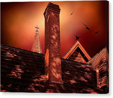 Canvas Print featuring the photograph The Olde Steeple by Micki Findlay