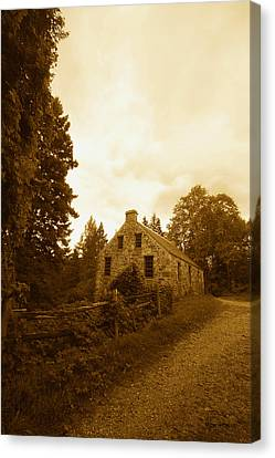 The Olde Stone Cottage Canvas Print by Ron Haist
