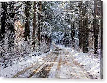 Canvas Print featuring the photograph The Oldest Road After The Snow by Constantine Gregory