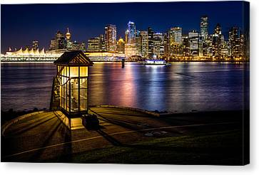 The Olympic Cauldron From Stanley Park In Vancouver Canvas Print