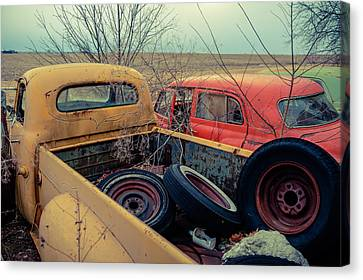 Canvas Print featuring the photograph The Once Useful by Brian Bonham