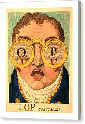 The Op Spectacles, Cruikshank, George, 1792-1878 Canvas Print by English School