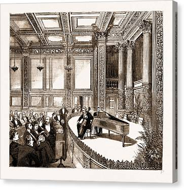 The Opening Of The New Building Of The Institute Canvas Print by Litz Collection