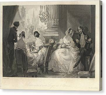 The Opera Canvas Print by British Library