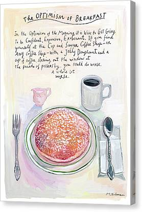 The Optimism Of Breakfast Canvas Print by Maira Kalman