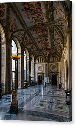 The Opulent Loggia In Villa Farnesina Rome Italy - 1 Canvas Print by Georgia Mizuleva
