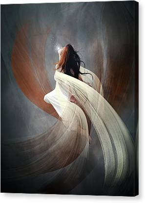 Olympus Canvas Print - The Oracle by Mary Hood