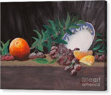 The Orange Bowl Canvas Print by Louise Williams