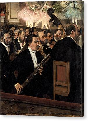 The Orchestra At The Opera Canvas Print
