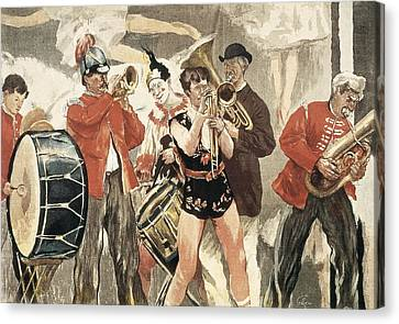 The Orchestra Of The Circus. 1888-1889 Canvas Print by Everett