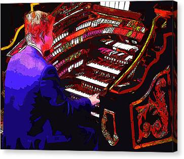 The Organ Player Canvas Print