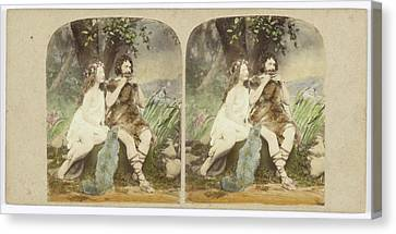Musique Canvas Print - The Origin Of Music Lorigine De La Musique by Artokoloro