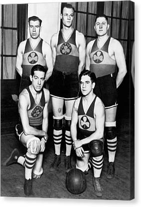 American Basketball Player Canvas Print - The Original Celtics Team by Underwood Archives
