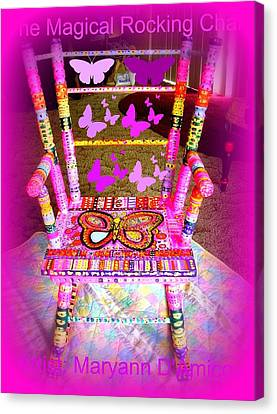 The  Original Magical Rocking Chair Canvas Print by Maryann  DAmico