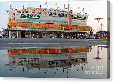 The Original Nathan's Canvas Print by Nishanth Gopinathan