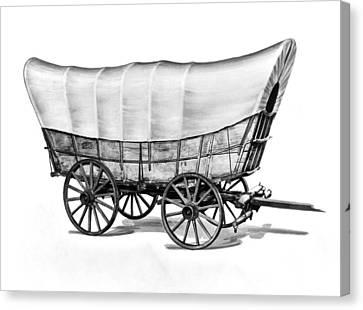 The Original Prarie Schooner Canvas Print by Underwood Archives