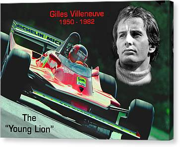 Canadian Grand Prix Canvas Print - The Original Young Lion by Mike Flynn