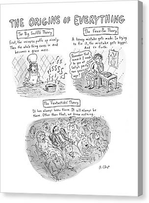 The Universe Canvas Print - 'the Origins Of Everything' by Roz Chast