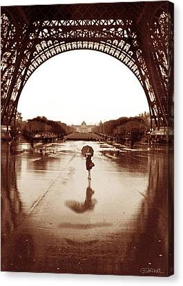 Hidden Face Canvas Print - The Other Face Of Paris by Gianni Sarcone