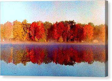 Canvas Print featuring the photograph The Other Side... by Daniel Thompson