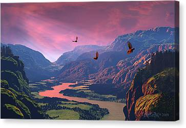 The Other Side Canvas Print by Dieter Carlton
