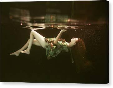 Swim Canvas Print - The Other Side by Gabriela Slegrova