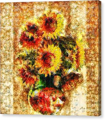 The Other Sunflowers Canvas Print by Mo T