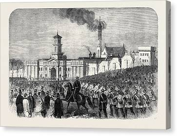 The Outbreak Among The Convicts At Chatham St Canvas Print by English School