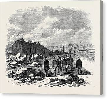 The Outbreak Among The Convicts At Chatham The Mess House St Canvas Print by English School