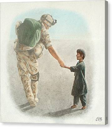 The Outcome Of War Is In Our Hands Canvas Print by Conor OBrien